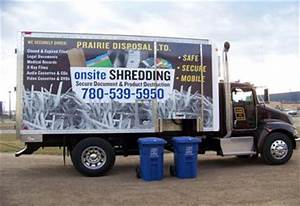 prairie disposal ltd secure paper shredding services With document shredding truck