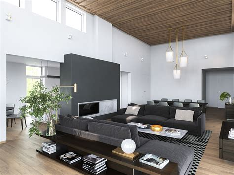 white home interior design 3 modern homes in many shades of gray
