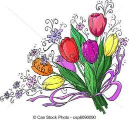 alstroemeria flower vector clipart of flower tulips bouquet flowers tulips