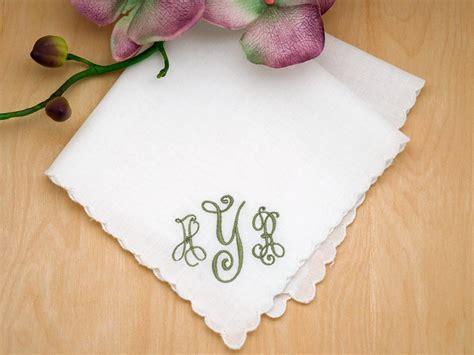 image gallery monogrammed handkerchiefs monogrammed wedding hankie w 3 initials font b