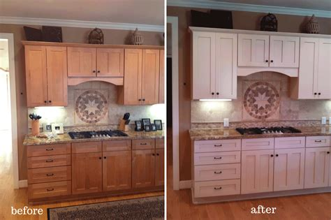 Repaint Kitchen Cabinet by Painted Cabinets Nashville Tn Before And After Photos