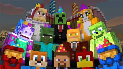 minecraft xbox birthday skin pack  years youtube