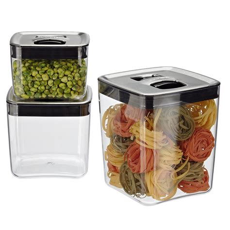 stainless steel kitchen canister set food storage containers airtight storage jars