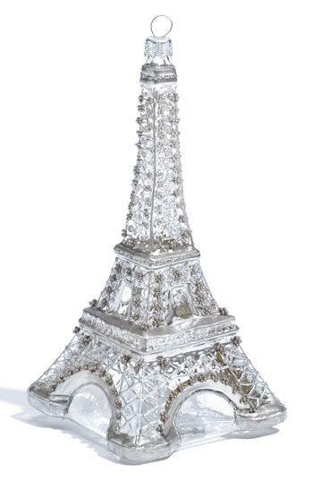 cut crystal eiffel tower xmas ornament nordstrom at home eiffel tower glass ornament