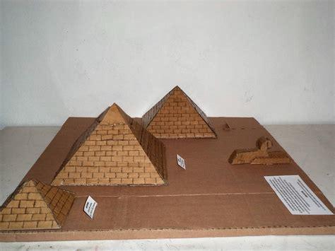 como hacer una piramide de carton maquetas dibujos y dise 209 os piramides de egipto maqueta