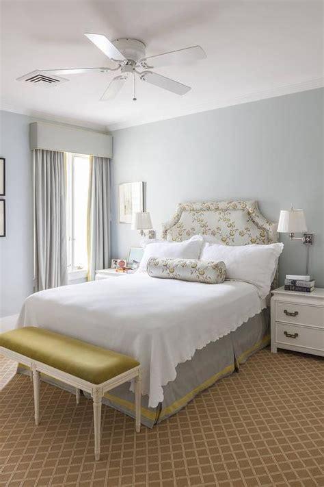 gray tufted bed transitional bedroom ralph lauren