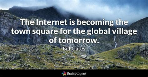 internet    town square   global