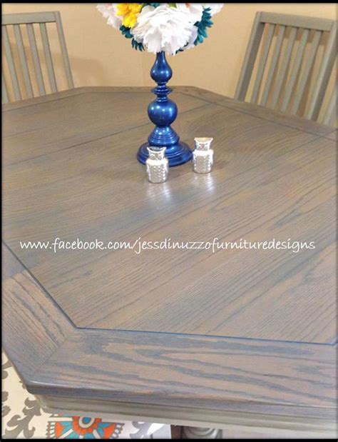 Gray Gel Stained Table   General Finishes Design Center