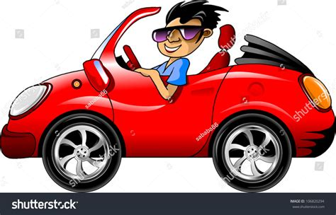 driving sports car glasses driving stock vector 106820294