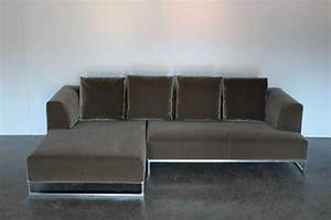 bb italia quotsoloquot l shape sofa in moss green mohair velvet With moss green sectional sofa