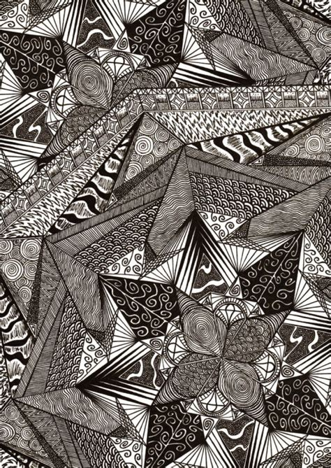 Abstract Black And White Drawings by Black And White Psychedelic Traditional Drawings