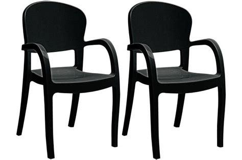 lot de 2 chaises design noires avec accoudoirs glow design