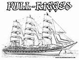 Coloring Ship Pirate Pages Ships Sailing Print Popular Military Coloringhome sketch template