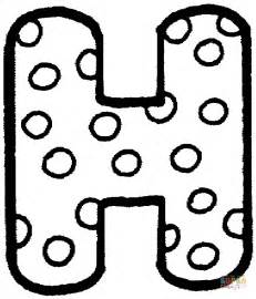 letter h with polka dot coloring page free printable coloring pages
