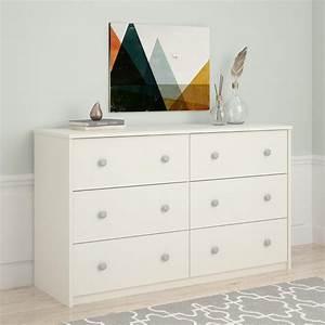 Essential Home Belmont 6 Drawer Dresser White
