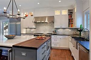 Chicago Stone Island Kitchen Contemporary With Island