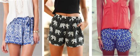 Graphic Print Shorts Tutorial