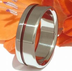 thin red line titanium ring firefighter39s ring red With thin red line wedding ring