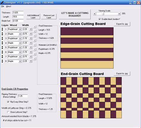 cutting board design software cbdesigner  jayman  lumberjockscom woodworking community