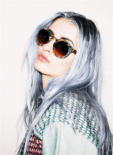 Blue Grey Hair Renard Argenté Pinterest