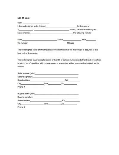 Florida Boat Bill Of Sale Itemized by General Bill Of Sale Form Free Create Edit