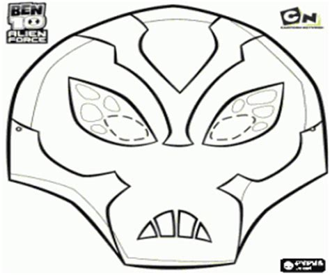 Big Chill Mask Ben 10 Alien Force Coloring Page Printable