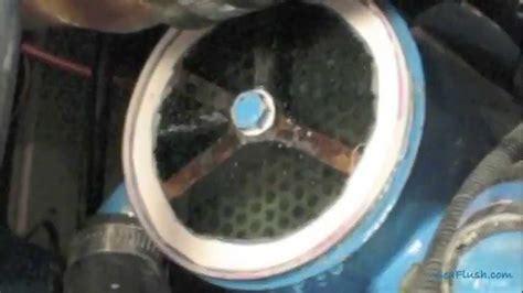 clean  boat engine heat exhanger  sea flush