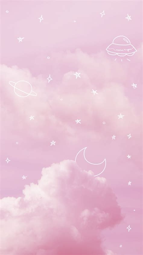 wallpaper pink sky  caseyou pink sky pinksky space aesthetic pastel papel de