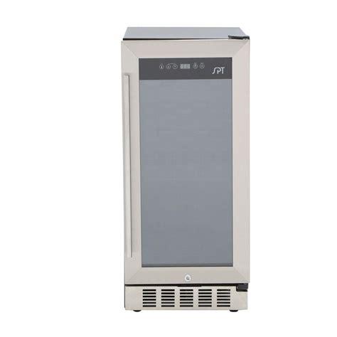 under cabinet beverage cooler spt under counter 32 bottle wine and beverage cooler wc