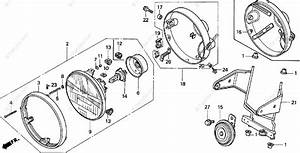 Honda Motorcycle 1991 Oem Parts Diagram For Headlight