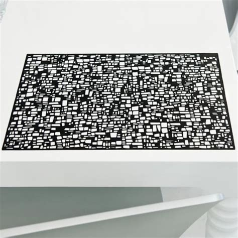 modern vinyl placemats geometric placemat in black modern placemats by