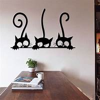good looking cat wall decals DIY Three Cats Wall Stickers Removable Living Room Decor ...