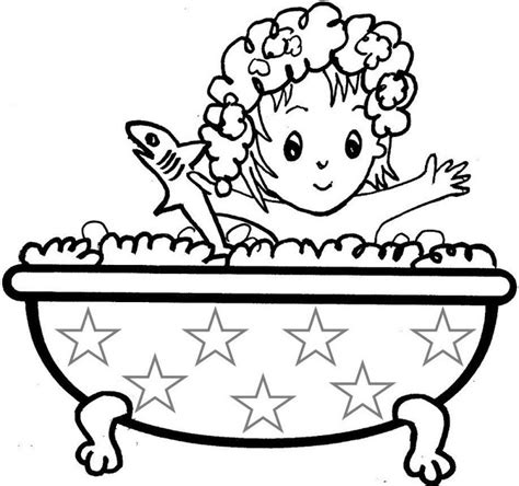 Bath Time Coloring Pages Bath Time Coloring Page Coloring Pages