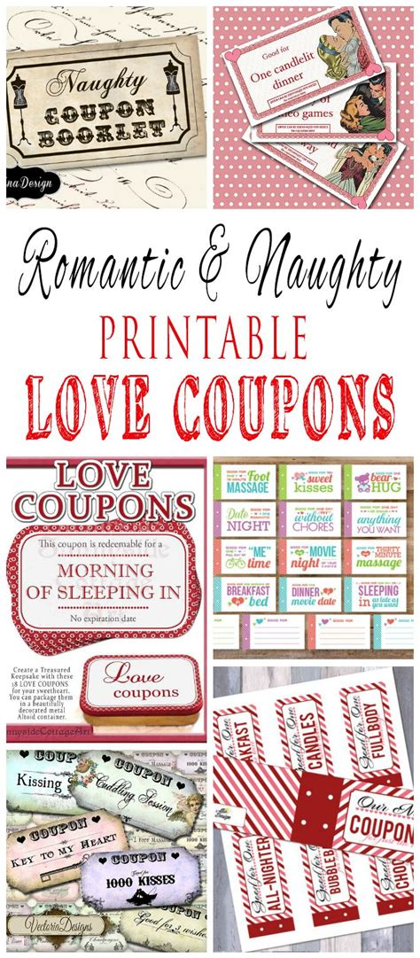 boyfriend coupon printable template romantic and naughty printable love coupons for him