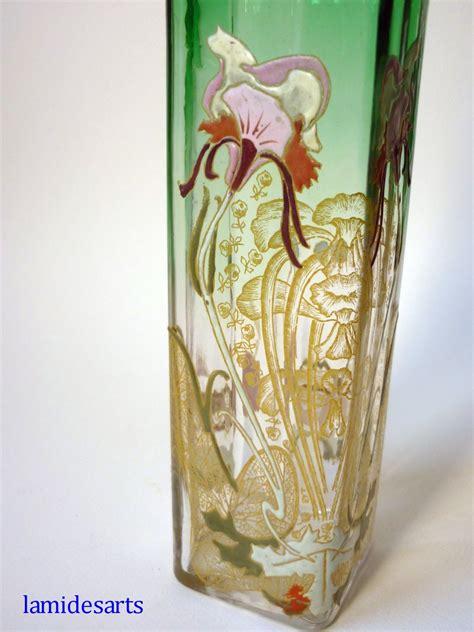 vase verre emaille legras montjoye art nouveau