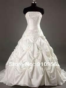 cheap white wedding dresses retail wholesale cheap price stock strapless a line white ivory taffeta wedding dress bridal