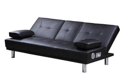 manhattan bluetooth speakers modern sofa bed black faux