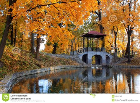 A Rom Anime Similar To Golden Time Autumn At The Japanese Park Stock Photo Image 17178780