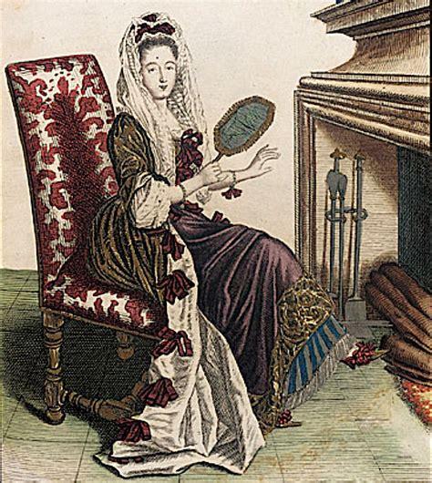 ca 1685 femme de qualité en robe de chambre d hyuer