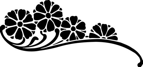flower black and white png free flower black and white