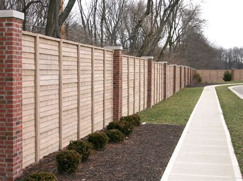 brick and wood fence pictures brick wood fence 7631