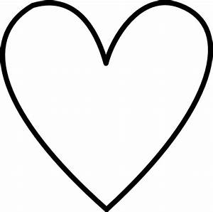 White Heart Outline Clip Art at Clker.com - vector clip ...