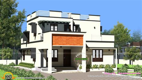 Flat Roof Home Designs 1900 Sq Ft Modern Flat Roof House