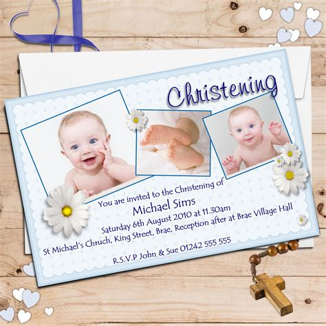 baptism card template personalised christening invitations personalised