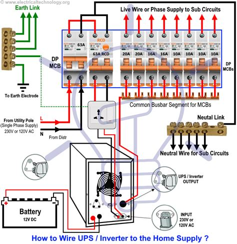 Automatic Ups Inverter Wiring Connection Diagram