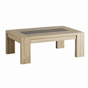 Table Basse En Beton : table basse couleur ch ne clair et effet b ton contemporaine mateo ~ Teatrodelosmanantiales.com Idées de Décoration