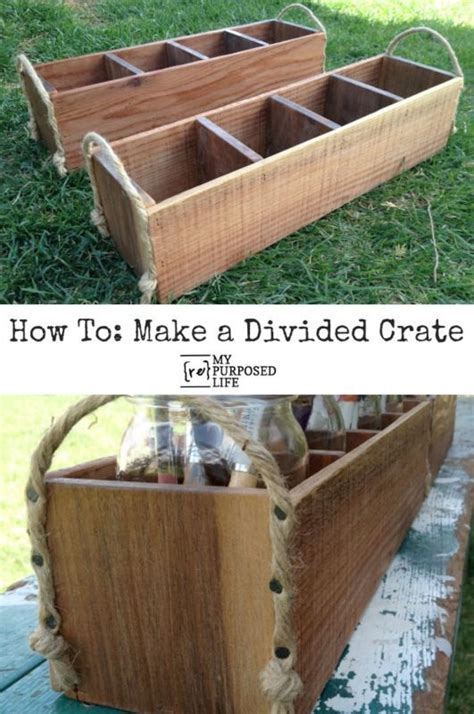 divided crate easy woodworking projects