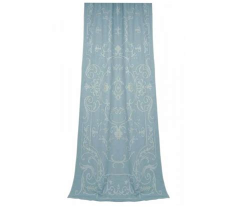 chatsworth blue linen curtain panel