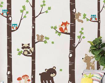Wandtattoo Kinderzimmer Etsy by 25 Best Ideas About Wandtattoo Waldtiere On