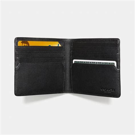 lyst coach double billfold wallet  signature